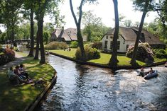 Giethoorn village in Netherlands. It has no roads or any modern transportation at all, only canals. Well, and 176 bridges too. Tourists have to leave their cars outside of the village and travel here by foot or boat by. So you can probably imagine how peaceful it is here. https://www.facebook.com/iinature/photos/pcb.1079122982225529/1079122755558885/?type=3&theater