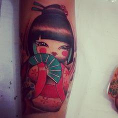 #kokeshi #oriental #tattoocultura #tattookokeshi
