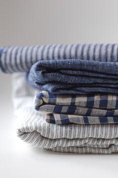 fog linen work Plus Textiles, Fog Linen, Sewing Baskets, Deco Design, Different Fabrics, Soft Furnishings, Home Textile, Linen Fabric, Burlap