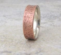 Men's Copper Ring Mens Wedding Band Copper Wedding Ring Silver Liner Rustic Wedding Bands Unique Wedding Rings Men's Jewelry Gift for Him by SilverSmack on Etsy https://www.etsy.com/listing/59328421/mens-copper-ring-mens-wedding-band - expensive mens jewelry, white gold mens jewelry, mens gold jewelry cheap