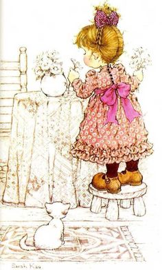 Vivien Kubbos's art of Sarah Kay Holly Hobbie, Mary May, Jolie Photo, Cute Images, Copics, Cute Illustration, Vintage Children, Paper Dolls, Coloring Pages