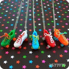 Vintage Roller Skate Necklace #partyfavors #rollerskating #skatingbirthdayparty