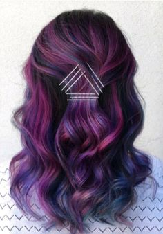 41 Creative Exposed Bobby Pin Hairstyles: How to Make Bobby Pins .- 41 Creative Exposed Bobby Pin Frisuren: Wie man Bobby Pins verwendet 41 Creative Exposed Bobby Pin Hairstyles: How to Use Bobby Pins - Dark Purple Hair, Plum Hair, Purple Ombre, Purple Balayage, Brown Hair, Silver Ombre, Bright Purple, Putple Hair, Deep Purple
