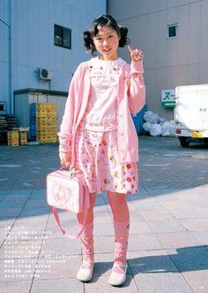 FRUiTS Tokyo Street Fashion, Tokyo Street Style, Japan Fashion, Grunge Style, Soft Grunge, Harajuku Fashion, Kawaii Fashion, Cute Fashion, Harajuku Girls