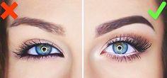 do and do not eye makeup- Makeup tricks every girl should know www. Make-up-Tr Makeup Tricks, Eye Makeup Tips, Skin Makeup, Eyeliner Makeup, Apply Eyeliner, Makeup Tutorials, White Eyeliner Waterline, Makeup Ideas, White Eyeliner Tricks