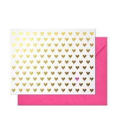 Sugar Paper's gold hearts noteset.