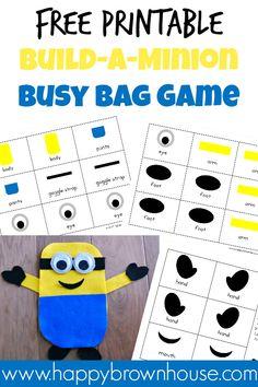 Free Printable Build-a-Minion Busy Bag Game
