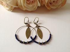 Boucles d'oreilles - Un air de bohème- couleur bleu : Boucles d'oreille par mcp-les-crea-de-marie