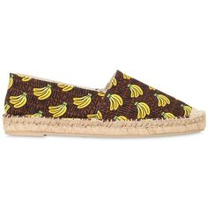8c769fd7afc6 Moschino Women 20mm Banana Printed Canvas Espadrilles (92.320 HUF) ❤ liked  on Polyvore featuring