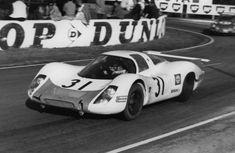 Le Mans 1968 - Porsche 908 LH - Jo Siffert 24 Hours Le Mans, Le Mans 24, Daytona 24, Road Racing, Auto Racing, Porsche Cars, Vintage Cars, Vintage Auto, Motor