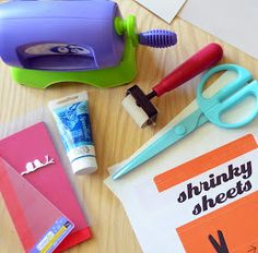 made by us with love: DIY letterpress plates with shrinky dinks