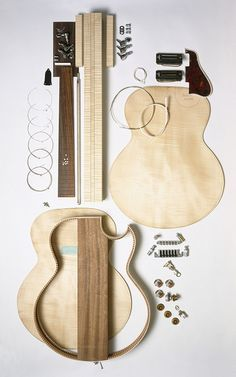 I seriously would have SO much fun as a guitar luthier! Guitar Kits, Music Guitar, Playing Guitar, Learning Guitar, Guitar Chords, Art Music, Ukulele, Best Guitar Players, Cigar Box Guitar