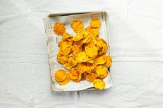 Homemade Sweet Potato Chips -- something different to dip!