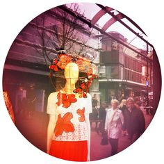 Mannequin. Street photography. Shop window reflection by Robin Cowings.