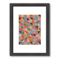 Americanflat Visual Philosophy 1 Geometric Framed Wall Art, Multicolor