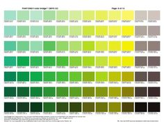 Pantone Color Bridge Plus and CMYK Cheat Sheets for Graphic Designers Pantone Cmyk, Pantone Paint, Cmyk Color Chart, Pantone Color Chart, R Colors, Green Colors, Mint Color, Paint Colours, Colour Pallete