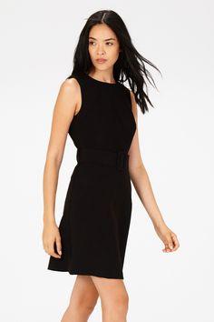 Black BELTED 60S SHIFT DRESS
