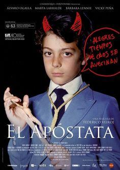 Santiago Guidotti y Begoña Aróstegui por el cartel de El apóstata.