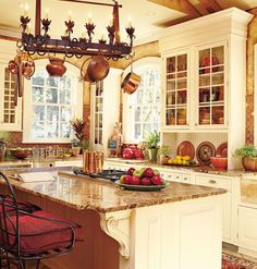 French Country Kitchen interior design ideas and home decor Kitchen Redo, New Kitchen, Kitchen Remodel, Kitchen Ideas, Kitchen Sinks, Kitchen Colors, Kitchen Armoire, Stylish Kitchen, Kitchen Cabinetry