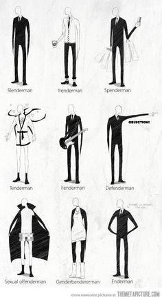 Many faces of Slenderman…