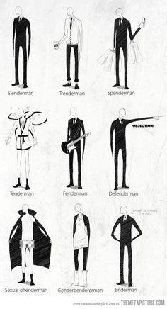 Many faces of Slenderman