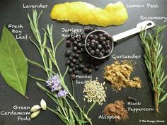 Homemade Gin Ingredients
