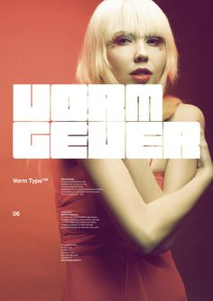 Vorm Type™ by Anthony Neil Dart, via Behance