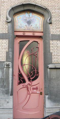 Art Nouveau pink door
