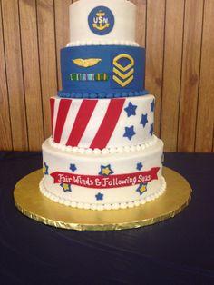 Navy chief retirement cake