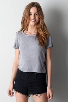 AEO Lace Back T-Shirt  by AEO | Back your way into casually pretty.  Shop the AEO Lace Back T-Shirt  and check out more at AE.com.
