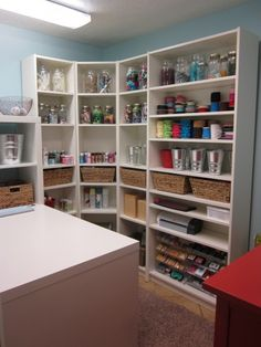 """Organizing a craft room"" #furniture #painting #craftroom #inspiration"