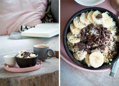Denne opskrift på quinoagrød med kokosmælk og bananer er virkelig lækker og en nærende mættende morgenmad - få opskrift her