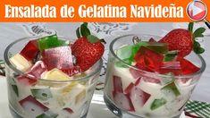 Ensalada de Gelatina Navideña con Frutas - Postre Navideño - Recetas en ...