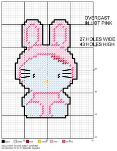 Hello Kitty Easter Bunny Costume plastic canvas pattern