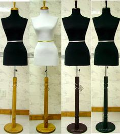 Set of 4 Dress Forms In Very Good Condition
