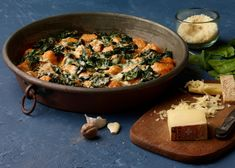 Sweet Potato Dumplings and Spinach Gratin