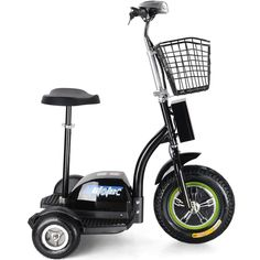 Big Toys USA MT-TRK-500 MotoTec Electric Trike 48v 500w. The MotoTec Electric Powered Trike aka Personal Transporter is a three wheel electric scooter that you can ride while sitting or standing, this makes it very convenient for use at events, security and warehouse floor operations or for just plain fun! It's like a three wheel Segway but at a fraction of the price! Powered by a 500 watt front wheel hub motor with speeds of 22 miles per hour. It can achieve a 20 plus mile range on a full…