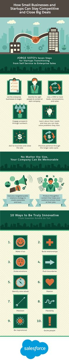 How Small Businesses and Startups Can Stay Competitive and Close Big Deals #infographic #Startups #Business