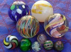 Very rare vintage marbles