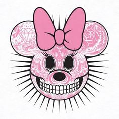 Minnie Mouse Day of the Dead skull - So cool!!!