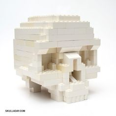 Noah Scalin's Lego Skull created for the Skull-A-Day project can now be made with DIY instructions thanks to fellow Lego artist Clay Morrow