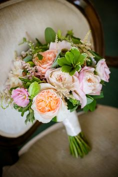 Gorgeous bouquet with flowers from the MOB's yard. http://candacejefferyphotography.com/blog/