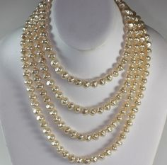 Designer Yochi NY four strand pearl necklace--great look!