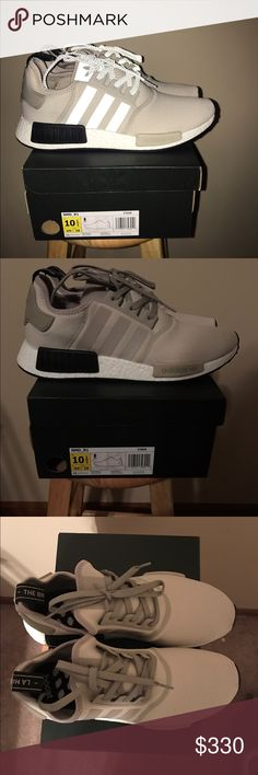 NMD R1 Runner Tan/White/Cream/BlackKhaki Men 10.5 DS pair of NMDs that you don't come around a lot.  If you are interested ignore my asking price and msg me at markblank00 @yahoo.com or text 4025078852. Adidas Shoes Athletic Shoes