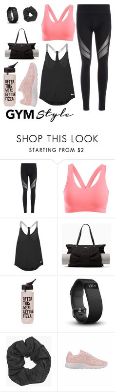 """""""I Work Out 💪🏼"""" by xxpopcornloverxx ❤ liked on Polyvore featuring NIKE, Kate Spade, ban.do, Fitbit, Boohoo and gymessentials"""