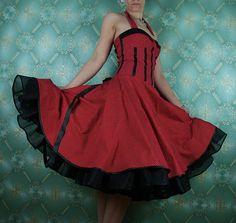 50er Jahre Kleid Vintage Kleid voller Rock von Lolablossomclothing, $169.00