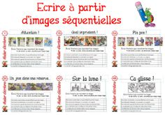 PROJET ATELIERS ECRITURE Teaching Kindergarten, Teaching Writing, Writing Activities, Writing A Book, Writing Prompts, Elementary Teaching, French Teacher, Teaching French, French Lessons