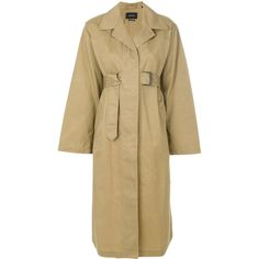 Isabel Marant Fawn trench coat (2,480 AED) ❤ liked on Polyvore featuring outerwear, coats, lightweight coat, beige trench coat, beige coat, mid length trench coat and trench coats