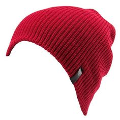 Junior Volcom 'Slight Chile' Beanie ($25) ❤ liked on Polyvore featuring accessories, hats, beanies, head, blood red, volcom beanie, red beanie hat, beanie hats, red hat and red beanie