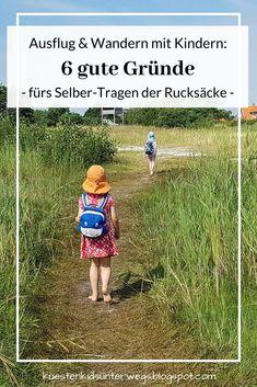 Ausflug & Wandern mit Kindern: 6 gute Gründe fürs Selber-Tragen der Rucksäcke (+ Rucksack-Tipps). Auf Küstenkidsunterwegs zeige ich sechs gute Gründe auf, weshalb Kinder ihre Sachen auf Ausflügen, Wanderungen oder dem Weg zum Strand selbst packen und tragen sollen. Ich schildere unsere Erfahrungen und gebe wertvolle Empfehlungen für gute Rucksäcke. #rucksack #kind #tragen #selbsttragen #ausflug #wandern #strand #dänemark #grund #tipps #empfehlung #erfahrungen #familie #alter #küstenkidsunterwegs